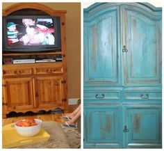 French painting technique! I'm planning on doing something like this to alot of my furniture! I love the look!