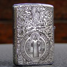 Regular Sterling Silver Holy Father Constantine Zippo Lighter