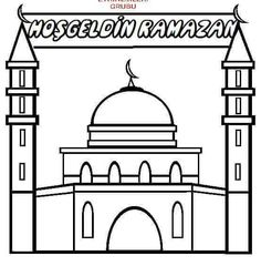Free Ramadan Coloring Pages. Color in this picture of a Mosque and others with our library of online coloring pages. Save them, send them; they're great for all ages.