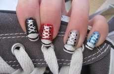 Tennis shoe fingernails