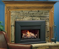 Transform your fireplace area with a Kingsman Vented Gas Fireplace Insert This insert is a complete unit that will convert your wood burning fireplace to Wood Burning Insert, Gas Insert, Vented Gas Fireplace Insert, Fireplace Inserts, Fireplace Tools, Home Fireplace, Kingsman Fireplaces, Buck Stove, Gas Logs