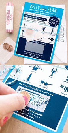 Приглашение Скретч-карта с монетками