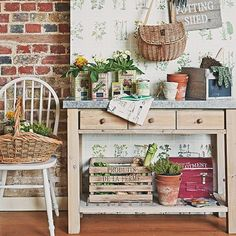 Garden-inspired utility room | 10 top utility room designs with a country feel | Decorating | housetohome.co.uk