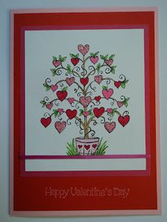 Card Corner by Candee: Tree of Hearts Valentine Card