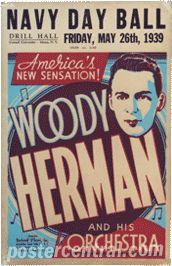 Woody Herman concert poster