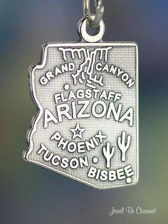 Arizona Charm Sterling Silver State America USA. $9.95, via Etsy.
