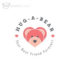 ABOUT  Cute bear in the shape of multiple hearts waiting for your love, perfect for your business!  This design is a pre-made, non-exclusive | Logo, Graphic Design, Bear, Heart, Cute, Whimsical, Smile, Teddy, Hug, Friend