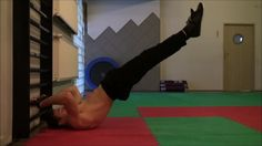ABS Workout in the Dragon Flag