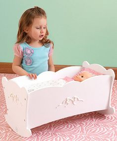 Another great find on #zulily! Pretty 'n' Pink Tiffany Bow Cradle for 18'' Dolls #zulilyfinds