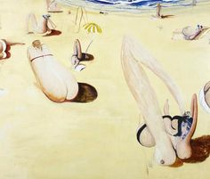 (Balmoral by Whiteley) Brett Whiteley AO was an Australian avant-garde artist. He is represented in the collections of all the large Australian galleries, and was twice winner of the Archibald, Wynne and Sulman prizes. Australian Painting, Australian Artists, Avant Garde Artists, Art Database, Paintings For Sale, Beach Paintings, Life Drawing, Beach Art, Art Auction
