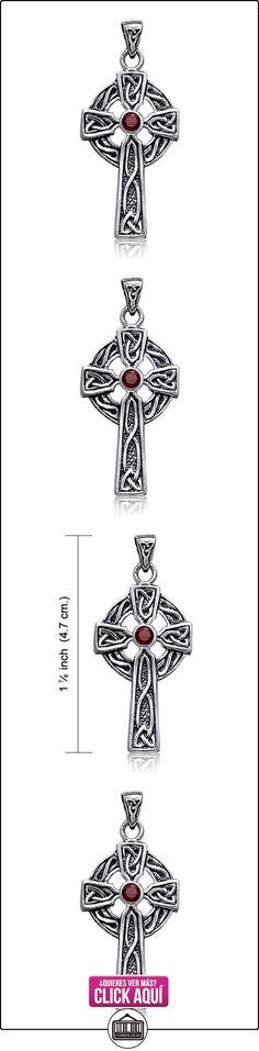 Bling Jewelry Cruz Celta Plata Esterlina Piedra Granate colgante  ✿ Joyas para niñas - Regalos ✿ ▬► Ver oferta: https://comprar.io/goto/B005P1X16E