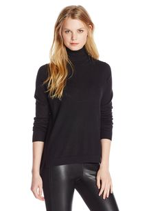 French Connection Women's Bambino Scrunch Neck Sweater, Black, X-Small