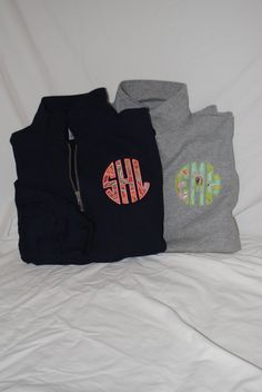 Monogrammed 1/4 Zip Sweatshirt by CharlestonMonograms on Etsy, $35.00 LOVE LOVE! It was meant for me! Already has my Initials