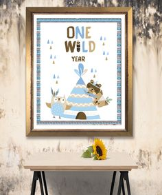 Tribal Wild One First Birthday Sign, Boho Woodland Animals Girl Party, Instant Download, Printable Template Editable, YOU PRINT First Birthday Sign, Wild Ones, Woodland Animals, First Birthdays, Printable, Templates, Boho, Handmade Gifts, Party