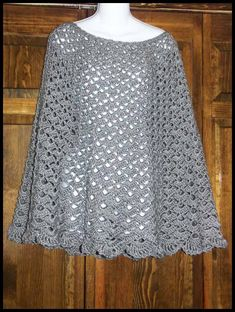 Desktop Designs Crochet sells hand crocheted items for the family and home. Gilet Crochet, Crochet Blouse, Crochet Scarves, Crochet Clothes, Thread Crochet, Knit Crochet, Crochet Cape Pattern, Crochet Poncho Patterns, Crochet Shawls And Wraps