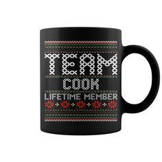 Team Cook Lifetime Member Ugly Christmas Sweater mug