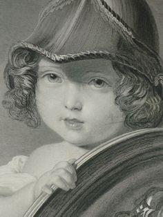Large 1896 Antique Print Of Princess Helena As by PrimrosePrints