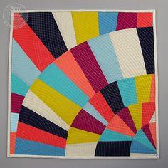 Improv Fans Mini Quilt by Amy Friend do During Quiet Time blog