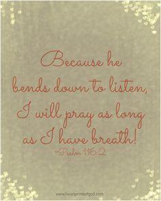 Psalm 116:2~♥