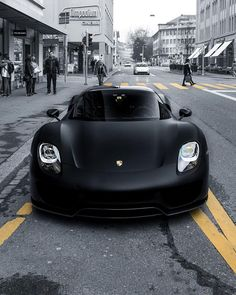 "747dc323d049 Blvck on Instagram: ""Describe this matte black 918 Spyder with one emoji.  👽"""