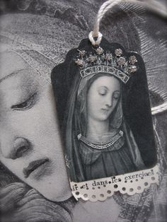 French Flea Market Tags - Mother of Divine Grace. $6.50, via Etsy.