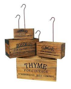 Vintage-Inspired Nesting Herb Crates