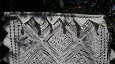 Cotton Hand Crocheted White French Valance Handmade Lace Curtain White Cotton Window Shelf Curtain Geometrical Designed Valance