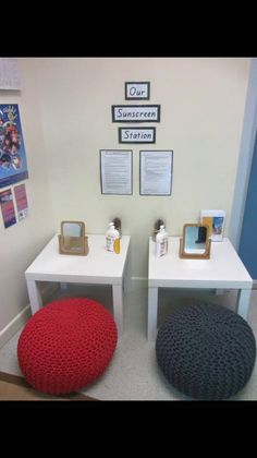 Sunscreen station by Kimberley Thompson