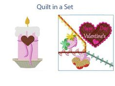 Valentine Treats 2 Machine Embroidery Designs http://www.designsbysick.com/details/valentinetreats2