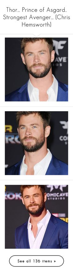 """""""Thor... Prince of Asgard.. Strongest Avenger... {Chris Hemsworth}"""" by imealunai ❤ liked on Polyvore featuring chris hemsworth, males, celebrities, people, shield, marvel, thor, men, chris and guys"""