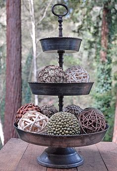 3-Tier Galvanized Metal Tray 22in. I love this! Available from saveoncrafts website.