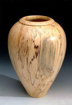 Natural Edge Ambrosia Maple Vase | Barbara Crockett Woodturning