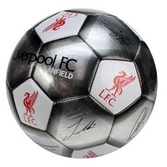 Fantastic metallic looking Liverpool FC football featuring the club crest and printed player signatures. Official Licensed Liverpool FC Gift. FREE DELIVERY
