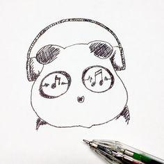 【一日一大熊猫】2017.1.8 イヤホンの日。 今使ってるのはBluetoothの片耳のやつなんだけど、 そろそろ音が途切れたりして買い換えかなぁ、っと思ってるけど もしかしたら端末の方がダメだったりして。。。 #パンダ #イヤホン #ヘッドホン #Bluetooth