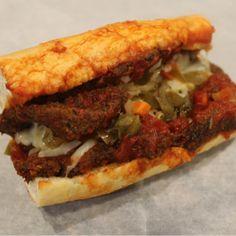 Chicago Style Breaded Steak Sandwich - Turano Baking Co Italian Steak Sandwich Recipe, Steak Sandwich Recipes, Steak Recipes, Pizza Recipes, Dinner Recipes, Cooking Recipes, Dinner Ideas, Breaded Steak, B Food