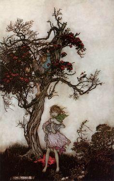 Ragged Children from Rip Van Winkle, by Arthur Rackham