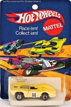 Hot Wheels! redline Ferrari 512P Rare 1973 Yellow Enamel paint MIP