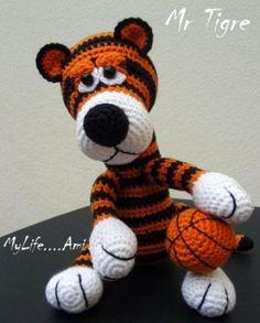 Tigre de ganchillo, muy fiero;) Grrrrrrr!!!