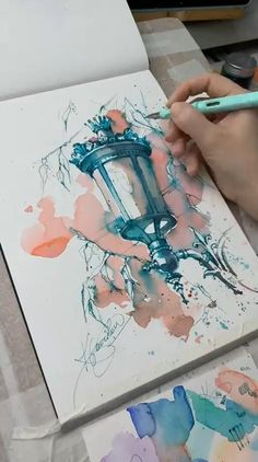 Watercolor Art Lessons, Watercolor Painting Techniques, Watercolour Painting, Painting Videos, Painting Art, Architecture Drawing Art, Art Drawings Sketches Simple, Diy Canvas Art, Link