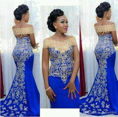 Royal Blue 2019 Prom Dresses Mermaid Cap Sleeves Satin Lace Party Maxys Long Prom Gown Evening Dresses Robe De Soiree