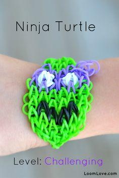 ninja turtle rainbow loom bracelet
