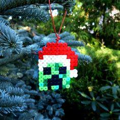 Bombki Minecraft - zestaw - Rękodzieła i Handmade od Pixel Nerd Christmas Ornament Sets, Christmas Crafts, Christmas Decorations, Christmas Tree, Fuse Beads, Perler Beads, Minecraft Pictures, Minecraft Christmas, Melting Beads