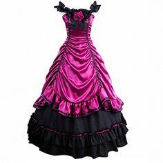 Partiss Damen aermellose gotische viktorianische Ruffles Lolita Abendkleid mit Lace Partiss http://www.amazon.de/dp/B00Y21IYV0/ref=cm_sw_r_pi_dp_TYRxvb1DGE5CY