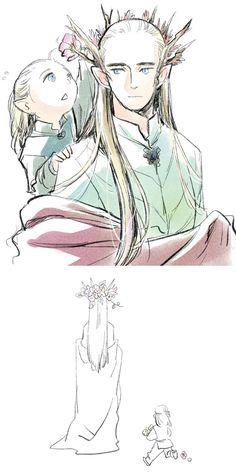 http://tatsuri.deviantart.com/art/Thranduil-and-Legolas-505676438  awwwwwww