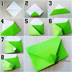 DIY Indonesia (@diy.id) в Instagram: «Our official back up acc @langkah.diy  amplop tanpa lem dari kertas origami.  Pic n tutorial by our…»