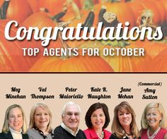 Congratulations to our top agents for October 2015 at Roohan Realty in Saratoga Springs, NY!  http://www.roohanrealty.com/blog/top-agents-october-2015/