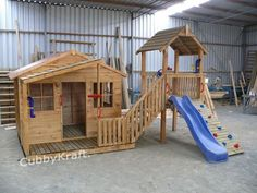 Kimba Castle Cubby House from Cubbykraft, is part of our large range of playhouses and great kids playground equipment - shop online and see what is on special this week! Kids Backyard Playground, Backyard Playset, Playground Set, Backyard Playhouse, Backyard For Kids, Backyard Fort, Kids Outdoor Play, Outdoor Play Areas, Cubby Houses