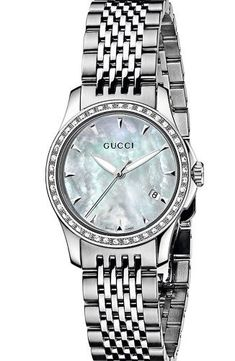149969145d9 Gucci Silver Mother of Pearl Quartz Women s Watch YA126506