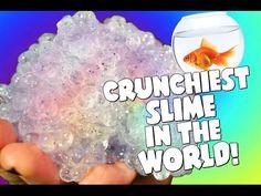 CRUNCHIEST SLIME EVER? DIY FISHBOWL SLIME! BEST ASMR CRUNCHY SLIME RECIPE! - YouTube