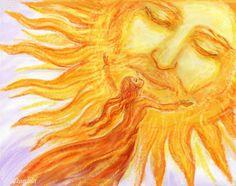 Бумажникъ Fantasy Artwork, Stars And Moon, Photo Wall, Painting, Totem Poles, Artworks, Sunshine, Spirituality, Sky